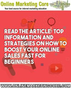 Top information and strategies on how to boost your online sales fast for beginners Marketing Models, Internet Marketing, Online Marketing, Online Forex Trading, Increase Sales, Online Sales, Search Engine, Online Business, Told You So