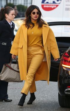 From neon bum bags to white leather trousers, Priyanka Chopra Jonas's style knows no bounds. See her best-ever looks, all in one place. Star Fashion, Girl Fashion, Fashion Outfits, Fashion Trends, Priyanka Chopra, Bollywood Celebrities, Bollywood Actress, Cashmere Turtleneck, Western Dresses