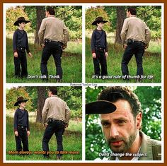 Rick Grimes - Andrew Lincoln and Carl Grimes - Chandler Riggs - TWD