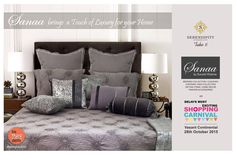 #betheredelhi Delhi Most Exciting #FestiveCarnival on 28th October 2015 at Vasant Continental...#Serendipitytake6..featuring Sanaa Home Collections ,a gratifying self-indulgence home décor brand, where luxury meets accessibility! All that you are & all that you want to be, ..There is an element of exclusiveness in their luxurious home textile products.We offer styles for everyone! Decorating your kingdom with a touch of Royalty! Special collection for festive gifting & Karva Chauth