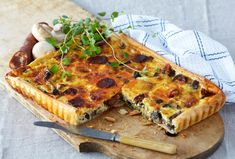 Vegetable Pizza, Quiche, Tart, Chorizo, Vegetables, Breakfast, Food, Egg, Omelette