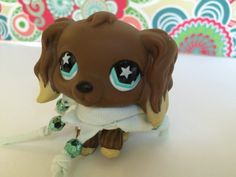 Fresh Blue Boho Bohemian Beaded upcycled outfit Littlest Pet Shop LPS toy elastic scarf one size fits all LPS toys LPS accessories