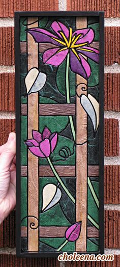 Clematis Mosaic Paper Tile Mosaic Mini Long by ArtByCholeena, $167.00