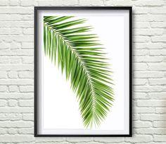 Tropical Leaf Print Green Palm Art Palm Art Palm Leaves