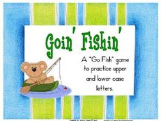 This cute game, played like Go Fish,  is a great way to practice upper  and lower-case letters. It can Also  be used as an assessment tool  Grades Pre-K-K
