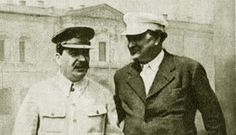Stalin and Dimitrov, problably in Moscow, 1930's.