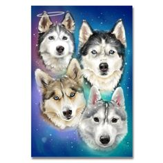 Gone to the Snow Dogs 24 x 36 Poster | Gone to the Snow Dogs Siberian Husky