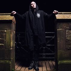 "CRMC X @vividblackartistry X @viewfromthecoffin ""TEM.ple O.mnium H.ominum P.ads AB.ba"" Robe Available at www.crmc-clothing.co.uk 