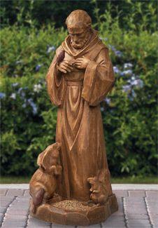 Religious Statues - Saint Francis of Assisi Caretaker - Francis Of Assisi, St Francis, Bird Statues, Garden Statues, Catholic Saints, Patron Saints, San Francisco, Patron Saint Of Animals, Life Size Statues