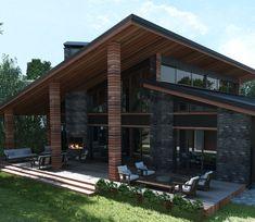Загородный дом - Загородный дом. Интеграция в реальный ландшафт | PINWIN - конкурсы для архитекторов, дизайнеров, декораторов
