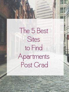 How to find an apartment. You're welcome.