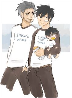 Fairy Tail - Silver, Gray and Gray's son Tags: Gruvia Rog Fairy Tail, Fairy Tail Kids, Fairy Tail Funny, Fairy Tail Family, Fairy Tail Art, Fairy Tail Love, Fairy Tail Guild, Fairy Tail Couples, Fairy Tales