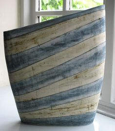 Blue Stripe image barbara leaning