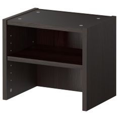 BILLY Height extension unit - black-brown - IKEA