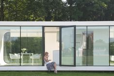 Fresh Open Area Home Elegant Coodo Modular Units 「夜に輝く」1ユニットでガラス貼りの上質ミニマムハウス