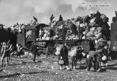 The refugees streaming into Yongdungpo near Seoul in 1951 bespoke the war racking their country. Korea had been freed from a long Jap. occupation in 1945- only to be split at the 38th parallel in 1948. North was under the Soviets & South was a republic. On June 25, 1950 North mounted an invasion. 2 wks later, UN's 1st multinational police force - 18000 troops provided by US-began landing at Pusan. MacArthur, 70, was recalled to head the force, which won back lost territory & drove into North.