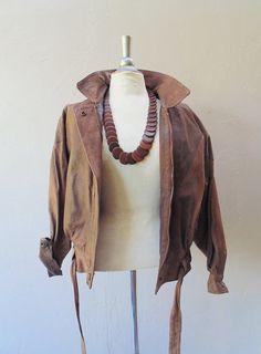 leather jacket / vintage brown leather jacket by FiregypsyVintage, $78.92