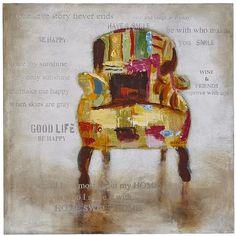 Decoupage Chair Art Owl Wall Art, Owl Art, Pier 1 Decor, Decoupage Chair, Deco Originale, Crafty Projects, My Sunshine, House Colors, Original Paintings