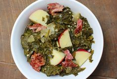 Greens for Prosperity- cooking greens at the start of the new year is said to help achieve wealth. the great taste is absolutely a sure thing. Braised Turnip Greens with Potatoes by Sue Lau How To Cook Greens, Turnip Greens, Southern Style, Palak Paneer, Veggies, Potatoes, Dinner, Ethnic Recipes, Cooking Greens