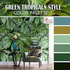 Green tropical style color palette 3
