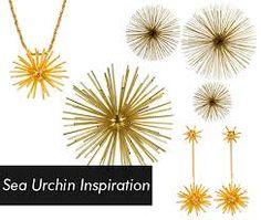 metal urchin jewelry