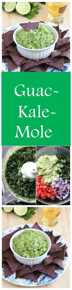 Guac-Kale-Mole! A delicious way to sneak in some healthy green. #cleaneating #vegan #glutenfree