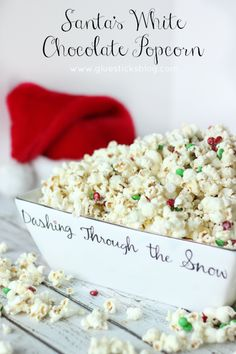 Santa's White Chocolate Popcorn