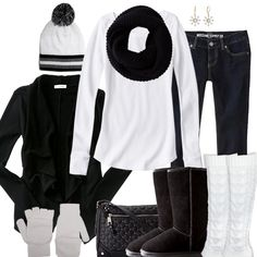 Black & White Winter Fashion