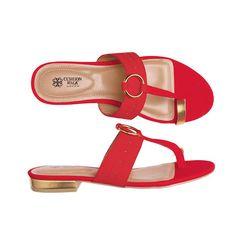 Cushion Walk® Chrissy Toe-Loop Sandal Shop with your Avon Representative online Toe Loop Sandals, Red Sandals, Avon Fashion, Avon Online, Ladies Slips, Shoes Online, Sexy, Walking, Footwear