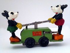 Lionel/Disney Mickey Mouse Wind-up Hand Car No.1100 (1930's)
