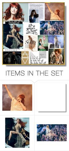 """""""Florence + The Machine/ Deep Thoughts with Winter group contest :  Musicians"""" by deborah-518 ❤ liked on Polyvore featuring art"""