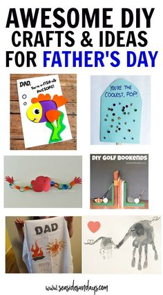 Father's Day Ideas For Kids! This is a great list of Father's Day crafts for kids and adults easy Father's Day cards to make and books about dads. Fun Father's Day activities for preschoolers to do for daddy. Diy Father's Day Gifts, Father's Day Diy, Fathers Day Quotes, Happy Fathers Day, Crafts For Teens, Gifts For Kids, Children Crafts, Father's Day Activities, Toddler Activities