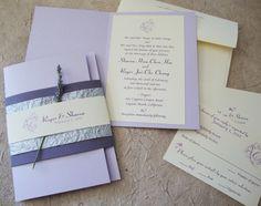 Pretty lavender wedding invitation