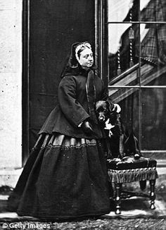 The widowed Queen Victoria with her dog Sharp at Balmoral