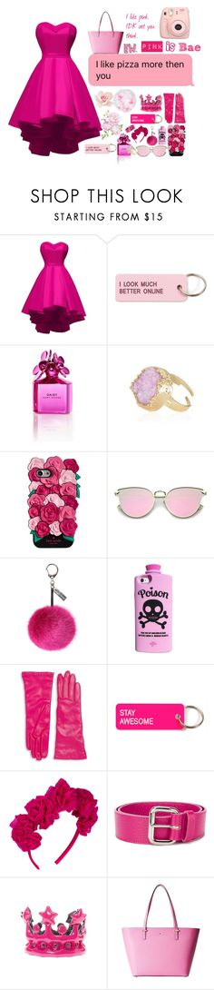 """""""Pinkified"""" by picking-daisies ❤ liked on Polyvore featuring Various Projects, Marc Jacobs, Kate Spade, Helen Moore, Saks Fifth Avenue Collection, Vjera Vilicnik, Orciani, claire's, Fujifilm and daisyquotes"""