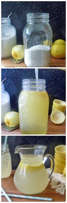 Only fresh squeezed lemonade can satisfy when you have a craving for that lip puckering, tangy, sweet goodness! Quick and easy Fresh Squeezed Lemonade Refreshing Drinks, Summer Drinks, Fun Drinks, Healthy Drinks, Beverages, Homemade Lemonade Recipes, Lemon Recipes, Homemade Smoothies, Non Alcoholic Drinks
