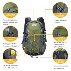 65edcc25a888 984 Best Camping Hiking Backpacks images in 2019 | Backpack ...