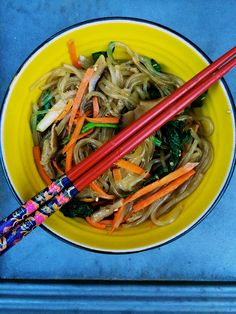 Skinny Raw Vegan Japchae with Stevia and Shirataki Noodles