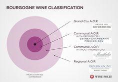 #Clasificación del vino de #Borgoña Sistema de Denominación de AOP