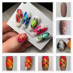 Chistmas Nails, Xmas Nail Art, Nail Art For Kids, Horse Nail Art, Animal Nail Art, Butterfly Nail Designs, Butterfly Nail Art, Blue Butterfly, Nail Art Designs Videos