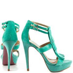 Tae - Aqua Suede Paris Hilton $89.99