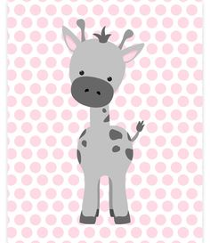 Giraffe Nursery Art, Baby Girl Zoo Art, Zoo Nursery Decor, Grey and Pink, Zoo Wall Art, Baby Zoo Decor, Gender Neutral, Giraffe Canvas Print by SweetPeaNurseryArt on Etsy