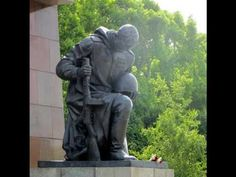 Treptower Park in Berlin is a world-famous Soviet memorial complex. It was opened in being a burial site of Soviet soldiers fallen in the Battle . World Famous, Garden Sculpture, Berlin, Knowledge, Memories, Education, Park, Outdoor Decor, Memoirs