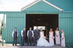 Megan & Scott's Country Lodge Wedding. Bridal Party, Rustic Wedding, Pink Wedding