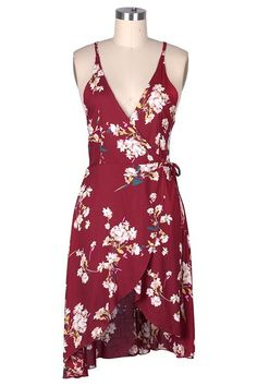 Cupshe Fully Grown Floral Plunging Wrap Dress   Find Out More & Where To Buy By Clicking Picture   affiliate link   TheProductPromoter.com