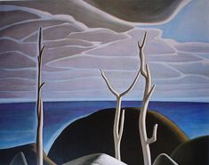 Lake Superior by Lawren Harris- Group of Seven offset lithograph fine art print Emily Carr, Canadian Painters, Canadian Artists, Landscape Art, Landscape Paintings, Contemporary Landscape, Group Of Seven Paintings, Tom Thomson Paintings, Art Gallery Of Ontario
