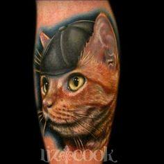 Liz Cook 'Cat in the Hat' tattoo
