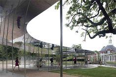 SANAA's 2009 Serpentine Pavilion, designed by Japanese architects Kazuyo Sejima and Ryue Nishizawa of SANAA (2010 Pritzker Prize Laureates).... a prize gifted for simplicity.
