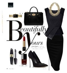"""""""Black"""" by lovepeacehopefaith ❤ liked on Polyvore featuring Sonam Life, Roland Mouret, Casadei, Mulberry, Max Factor, Chanel, Lancôme, women's clothing, women and female"""
