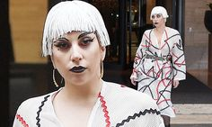 Lady Gaga steps out in an eye-catching sartorial display in Italy